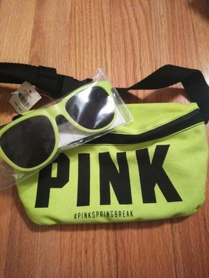 Victoria secret pink sunglasses and a bag for Sale in New Britain, CT