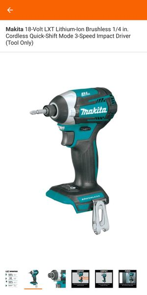 18-Volt LXT Lithium-Ion Brushless 1/4 in. Cordless Quick-Shift Mode 3-Speed Impact Driver (Tool Only) for Sale in Fort Worth, TX