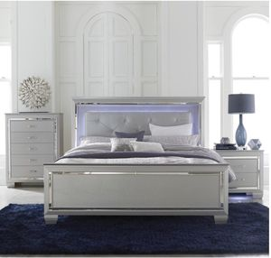LED BED WITH DRESSER AND MIRROR (PAY IN 3 MONTHS SAME AS CASH) for Sale in Lake Wales, FL