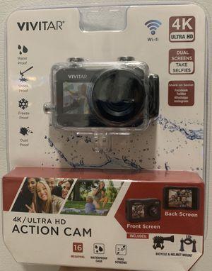 VIVITAR 4K ACTION CAM DUAL SCREENS 16 Megapixel (Sealed Box) for Sale in Hialeah, FL