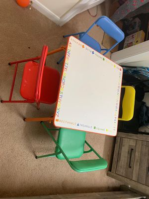 Kids table with 4 chairs for Sale in Princeton, NJ