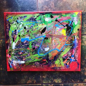 Original abstract painting 14x20 inch canvas art for Sale in San Diego, CA