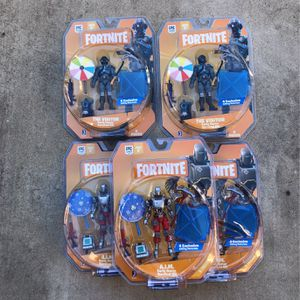Brand New! FORTNITE A.I.M & The Visitor Figures! Early Game Survival Kit! for Sale in Chino Hills, CA