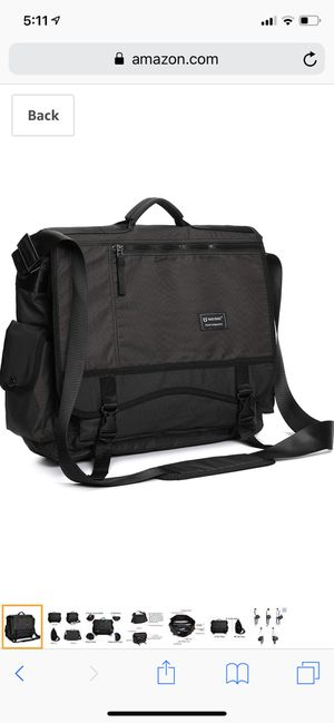 Large Messenger Bag, 17.3-inch Laptop Messenger Bag Back to School Book Bag Men Women for Sale in Kansas City, MO