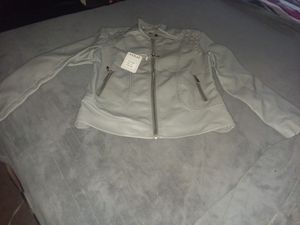 Womens Grey Leather Jacket for Sale in St. Louis, MO