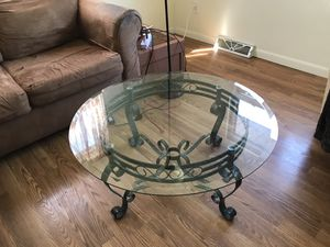 Round glass table on beautiful stand. for Sale in Grand Rapids, MI