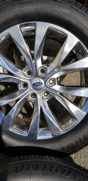 """Ford 20"""" Wheels w Brand New Tires - (Set of 4) for Sale in Edgewood, WA"""
