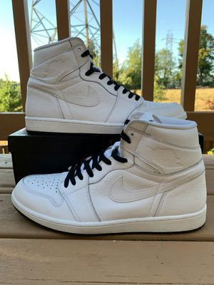 Jordan 1 perforated white for Sale in Sherwood, OR