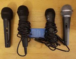 Microphone lot - 4 in all for Sale in Kannapolis, NC