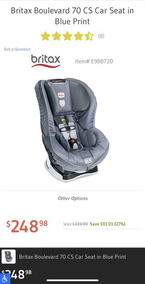 Britax Boulevard convertible car seat for Sale in Sudley Springs, VA
