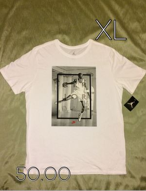 New Air Jordan Retro 4 Hangtime White Tee for Sale in West Valley City, UT