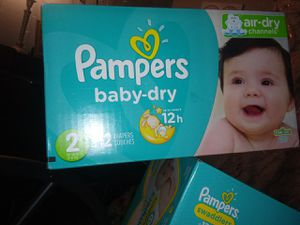 Pampers size 1 96pck $25 pampers size2 112 pck $33 for Sale in Fresno, CA