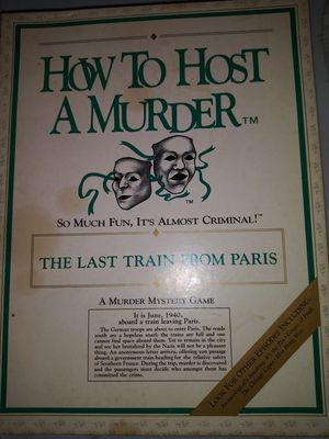 Murder party game. Never used! for Sale in Brazil, IN
