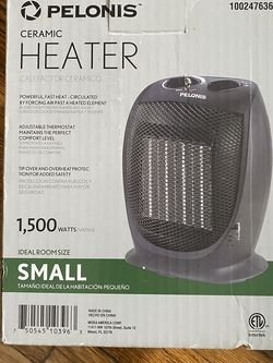 PELONIS HC-0179 2-Level Ceramic Heater with Adjustable Thermostat for Sale in Queens,  NY