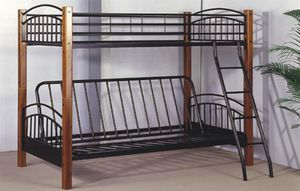 WOOD/METAL T/FUTON BUNK BED for Sale in The Bronx, NY