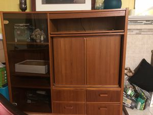 Television (Tv) and radio/ stereo console / stand storage for Sale in Silver Spring, MD