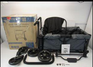 WonderFold W1 Multi-Function 2 Passenger Double Push Folding Stroller Wagon for Sale in Norwalk, CA