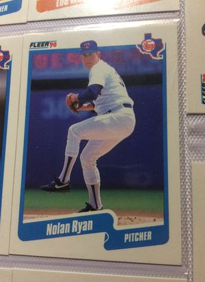 Selling two baseball cards and one of them or Nolan Ryan in the second one is Toby Harrah for Sale in Dublin, OH