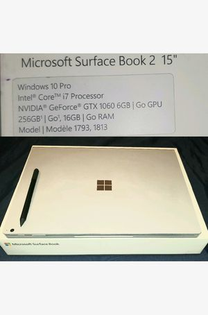 "15"" Microsoft surface book 2 for Sale in Corona, CA"