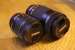 Cannon EFS 55-250mm & 18-55mm lens with accessories! for Sale in Los Angeles, CA