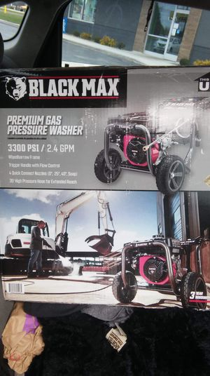 Black max premium gas pressure washer. for Sale in Elyria, OH