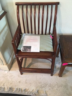 TWO ANTIQUE CHAIRS BAMBOO 37 INCHES for Sale in Saint Pete Beach, FL