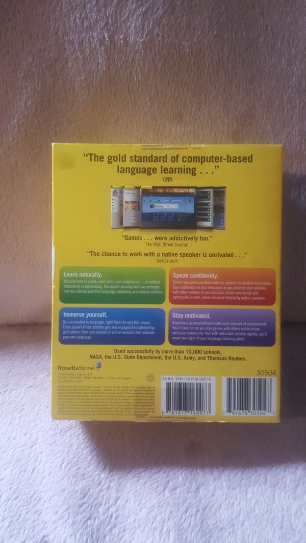 Rosetta Stone German version 4 Levels 1 to 5. Brand new.