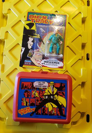Dick Tracy lunchbox and action figure for Sale in Crystal City, MO