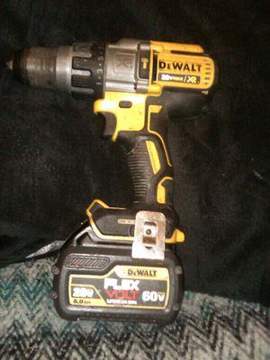 Dewalt Hammer Drill 20v XR w/60v battery flex for Sale in Orange, CA