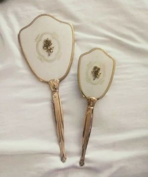 Antique Matching Mirror & Brush for Sale in Fresno, CA