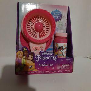 Disney Princess Bubble Fan for Sale in Fresno, CA