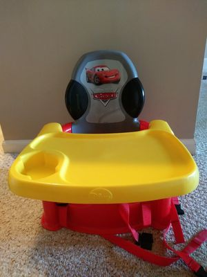 Disney Cars Portable Booster Seat/ High Chair for Sale in Dublin, OH