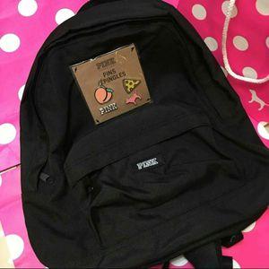 New Victoria's Secret pink & pin set mini backpack black for Sale in Brea, CA