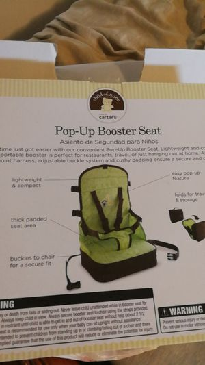 Pop up booster seat for Sale in Hampton, VA