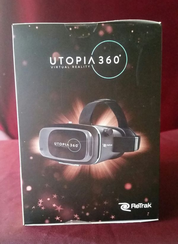 Utopia 360 virtual reality headset with Bluetooth ear buds & Bluetooth controller