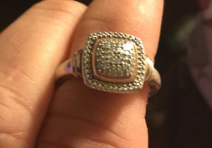 Womens 1/10 CT. T.W. Genuine Diamond 14K Rose Gold Over Silver Cocktail Ring for Sale in Staunton, VA