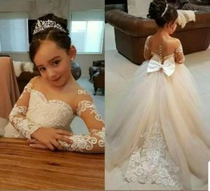 Long sleeve flower girl dress communion ball gown princess for Sale in Alexandria, VA