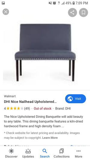 Upholstered bench for Sale in Charlotte, NC