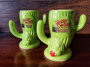 BOBBY MCGEE'S CONGLOMERATION CACTUS MUGS GLASSES VINTAGE COLLECTIBLES DECOR for Sale in Chandler, AZ