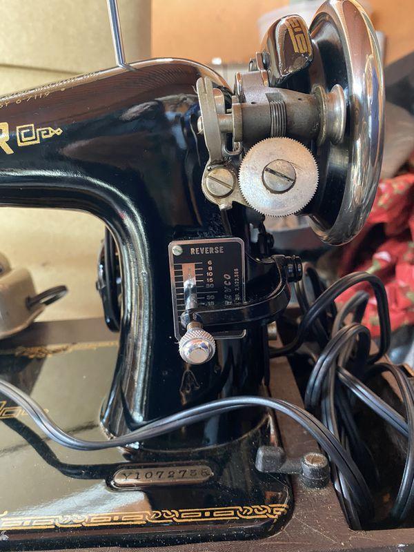 Vintage Electric Singer sewing machine