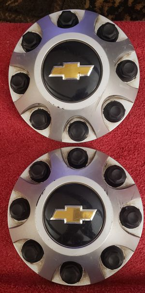 CHEVY HD STEEL 17 INCH RIM CENTER CAPS FITS 2011 AND UP.. for Sale in East Petersburg, PA
