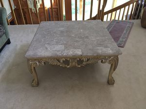 Square marble coffee table for Sale in Clearwater, FL