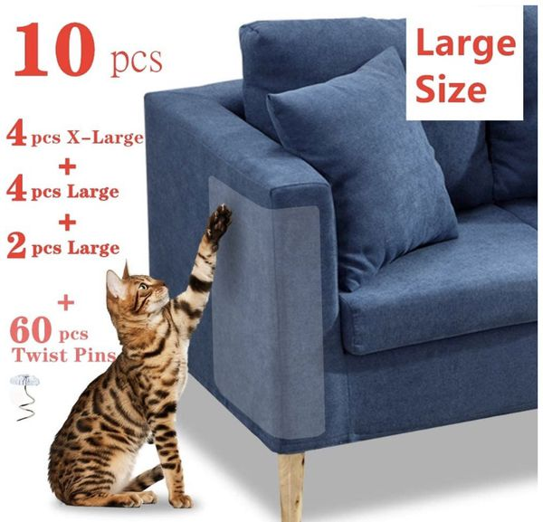 Pet Couch Protector, 10PACK Clear Pet Cat Dog Claw Guards Self-Adhesive Pads