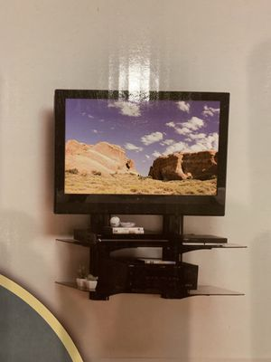 On-Wall Component Shelving with two adjustable glass shelves, never used, bought new for $300 for Sale in Round Rock, TX