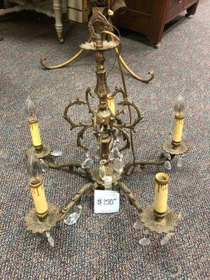 Vintage burnished brass chandelier for Sale in La Mesa, CA