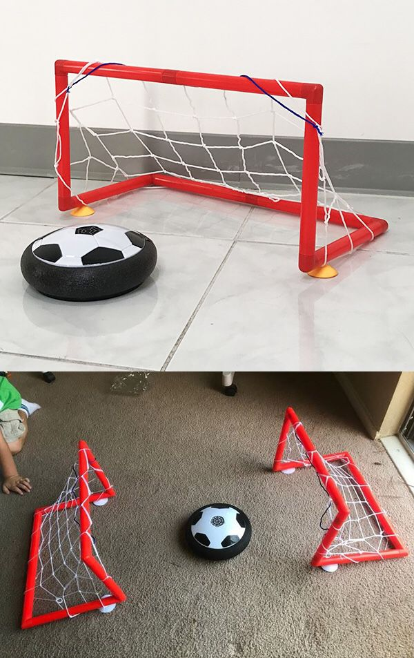 """New $10 Hover Air Soccer Ball Toy Set with 2 Goals for Kids Age 3+ Years old, Size: 19x10x10"""""""