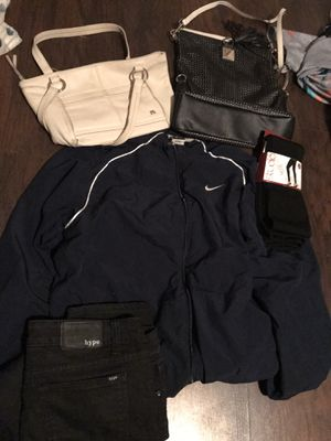 3 bags clothes man woman kids good Clothes some brand new for all $60 for Sale in Spring Valley, CA