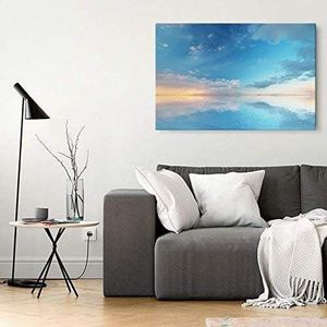 ((FREE SHIPPING)) watercolor style tranquil blue ocean at sunset - giclee print gallery wrap modern home decor Painting like print for Sale in Redwood City, CA