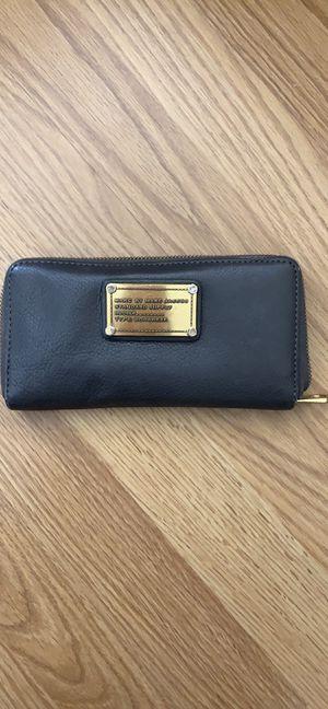 MARC JACOBS leather zip around wallet dark grey for Sale in Huntington Beach, CA