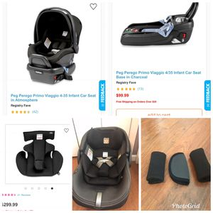 Peg Perego Infant seat with 2 car seat bases for Sale in Matthews, NC